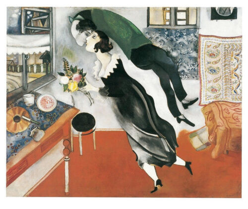 Birthday by Marc Chagall Art Print Modern Offset Lithograph Poster 11x14