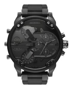 Diesel-DZ7396-Mr-Daddy-2-0-Men-039-s-Chronograph-Black-Dial-Watch
