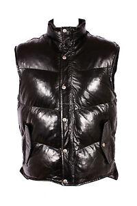 morbida di nero K1 nuovo pelle invernale design uomo bomber in agnello Gilet Puffer qwzCBgS4