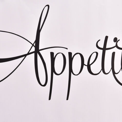 Bon Appetit Kitchen Wall Sticker Vinyl Removable Wall Decal Dining Room Decor HV