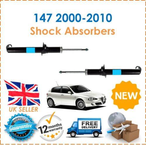 For Alfa Romeo 147 937/_ 2000-2010 Two Front Gas Shock Absorbers Set Pair New