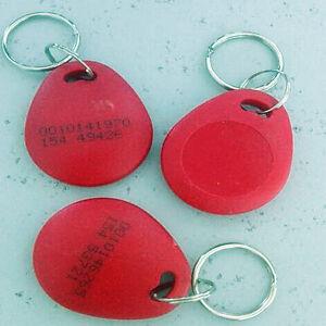 100pcs RFID ID Key Card Tag Keyfob Token NFC TAG Keychain 125KHZ TK4100 Blue