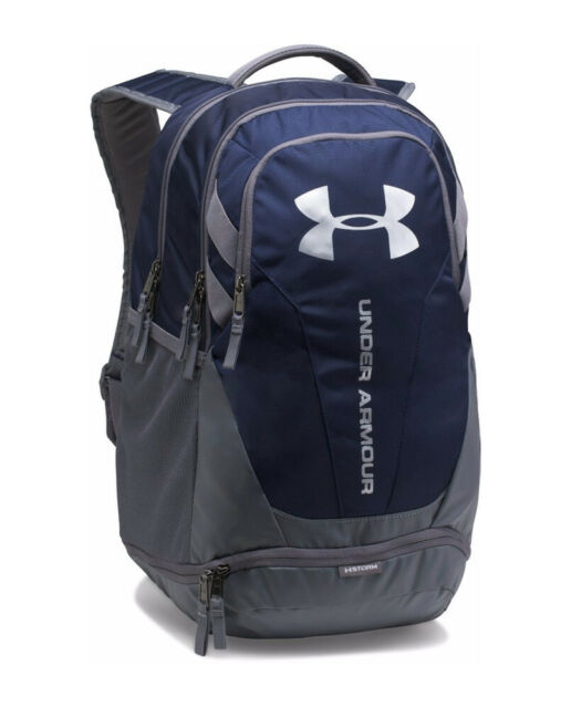 47ccf54aac Under Armour 1294720 UA Hustle 3.0 Backpack Water Resistant Polyester Bag  OSFA Midnight Navy