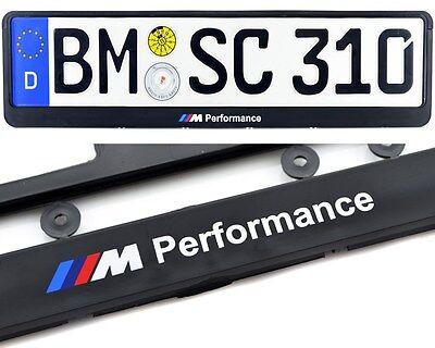 BMW 3 Series E46 Euro Standart License Plates Frames ///M Performance Logo 1pcs