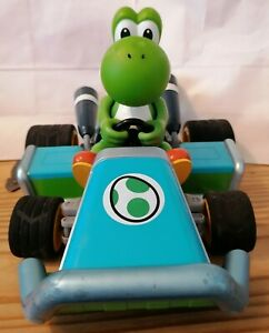 Nintendo-Super-Mario-Kart-7-Yoshi-RC-Telecommande-voiture-1-16-Carrera-teste