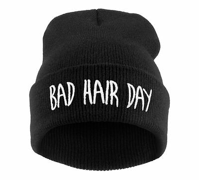 Winter Wool BEANIE HAT Oversize HATS LA Bad Hair Day Swag Cash Easy Meow Ski LA