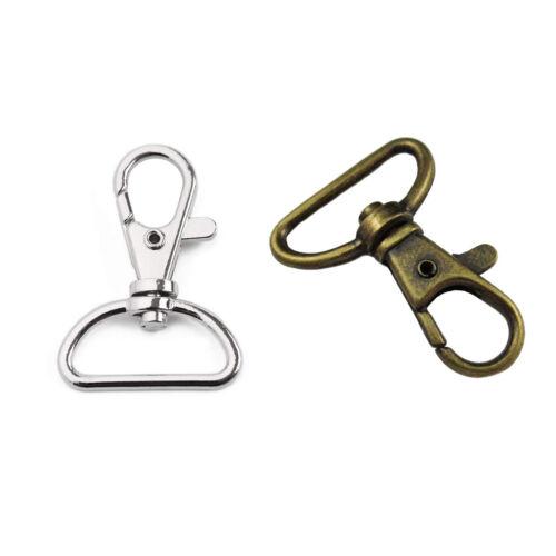 Métal Mousqueton Ring Porte-Clés Pivot Pince de Homard Diapositive Trigger