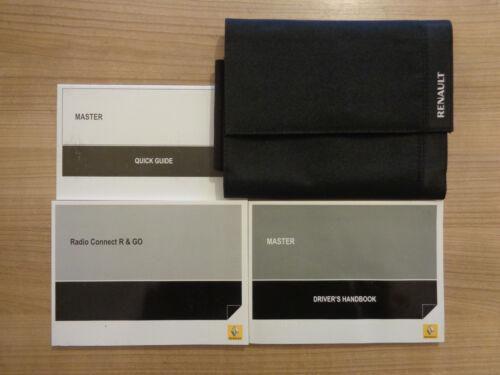 Renault Master Owners Handbook//Manual and Wallet 15-18
