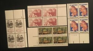 4-Different-MNH-20-plate-Blocks-as-Pictured-Lot-1