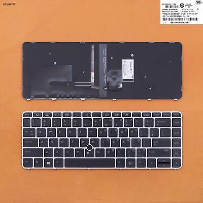 Original New For HP Elitebook 755 G3 850 G3 US UI Black Backlit keyboard