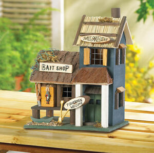 bass fishing tackle store bait shop wood fairy bird house decorative rh ebay com birdhouse store near me birdhouses stores oregon coast