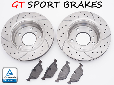 FRONT AND REAR BRAKE DISCS AND PADS FOR MINI MINI COUPE COOPER S 1.6 9//2011