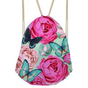 Image is loading Drawstring-Backpack-Women-Girls-School-Bags-Shoulder-Beach- 818b46031