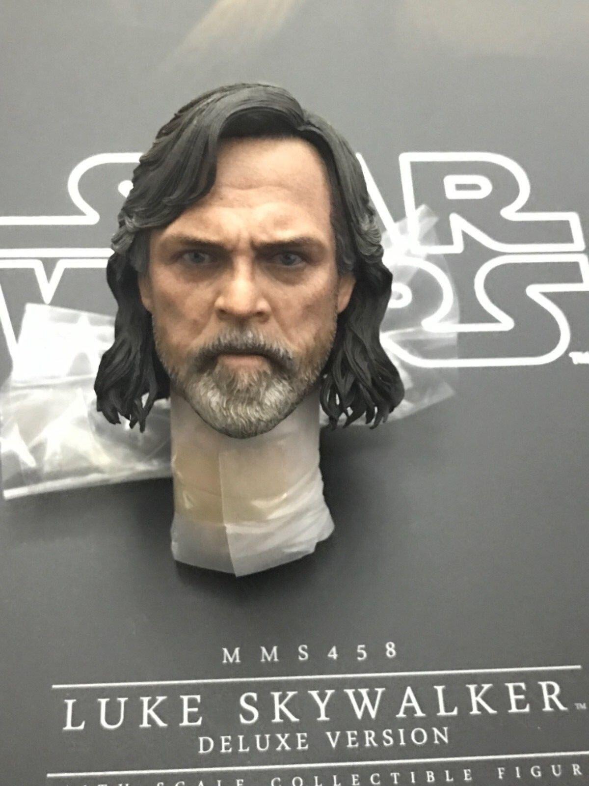 Hot Juguetes Estrella Wars Luke Skywalker MMS458 último Jedi - 1 6th Escala Escultura de cabeza