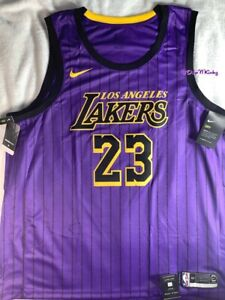 Nike Lebron James LA LAKERS City Edition Swingman Jersey size 3XL ...