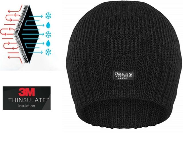 Men Women Thinsulate 3M Warm Black Beanie Hat For Insulated Knitted Designer 155de4cd511