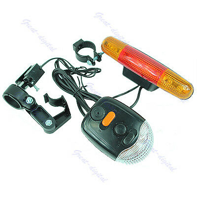 New 3 In 1 Cycling Bicycle Bike Turn Signal Brake Tail 7 LED Light Electric Horn