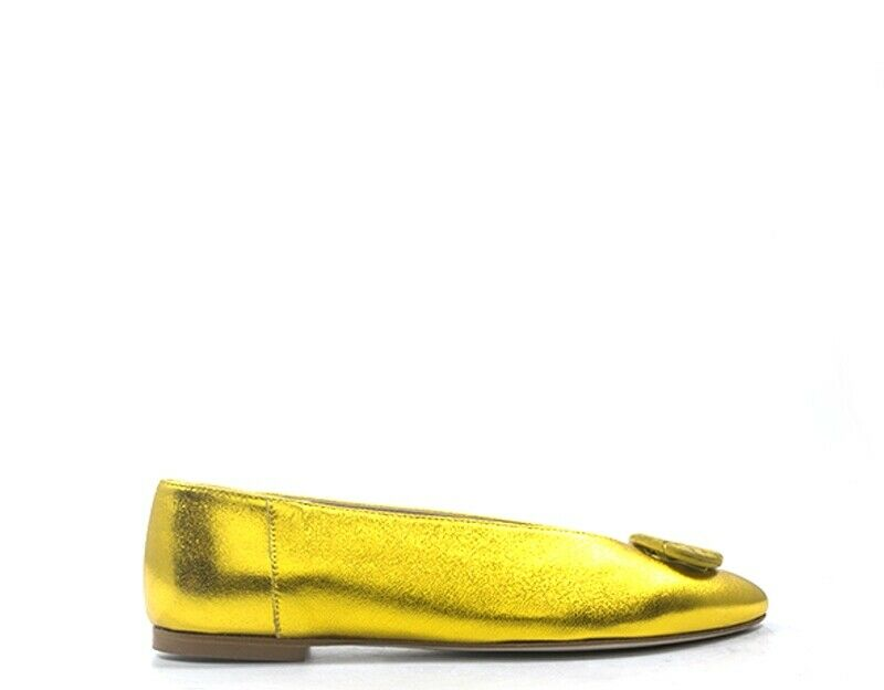 shoes OLIVIA POSTER women Ballerine  yellow Pelle naturale E311-GI