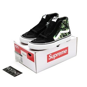 3e9a7ed7a6b328 Supreme x Vans SK8-Hi Pro 2018ss Skull Pile Green White Sneakers ...