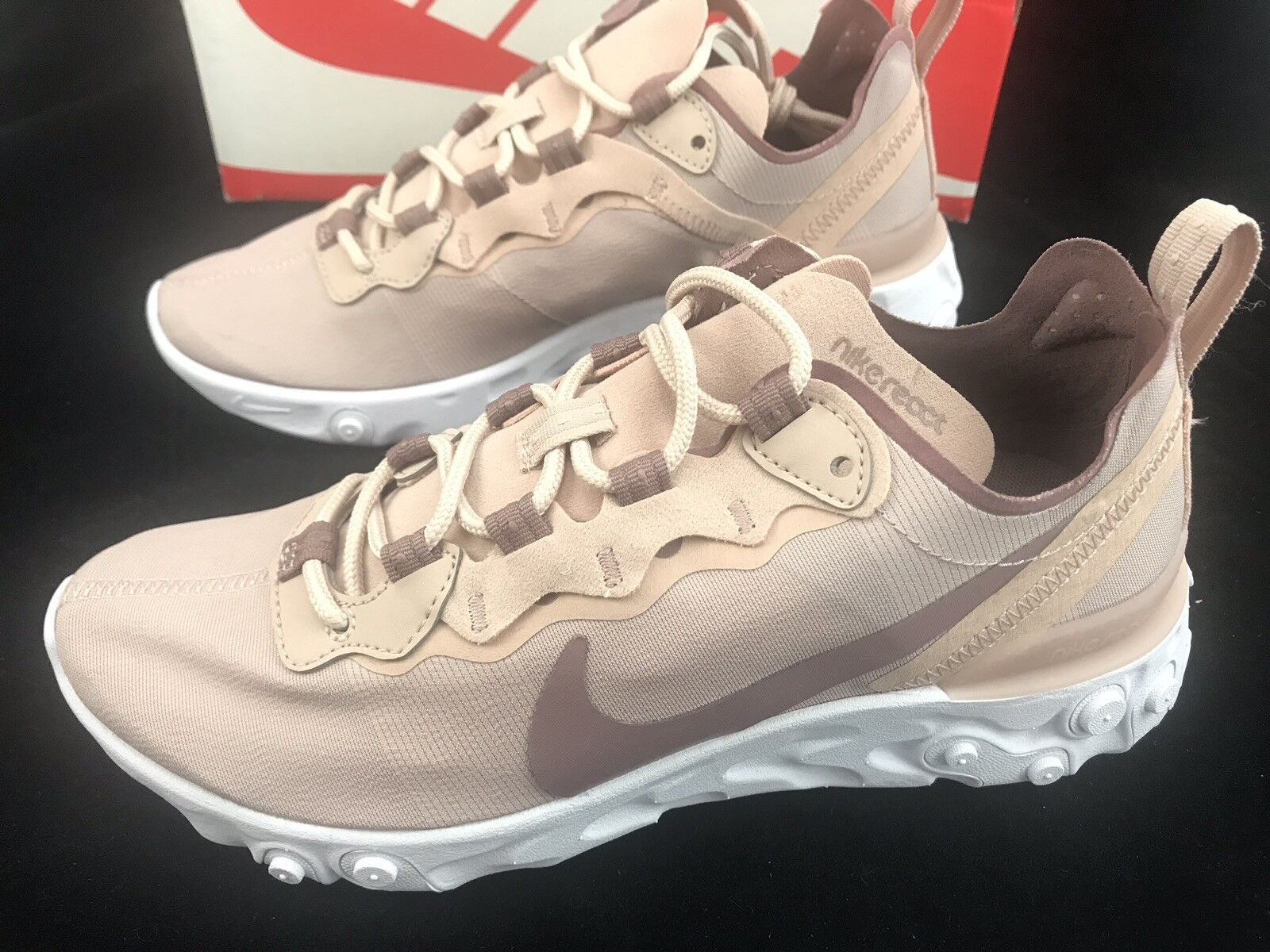 b084b4c4a5dd3 Women's Nike React 55 Particle Beige BQ2728 200 Running Size 6 shoes ...