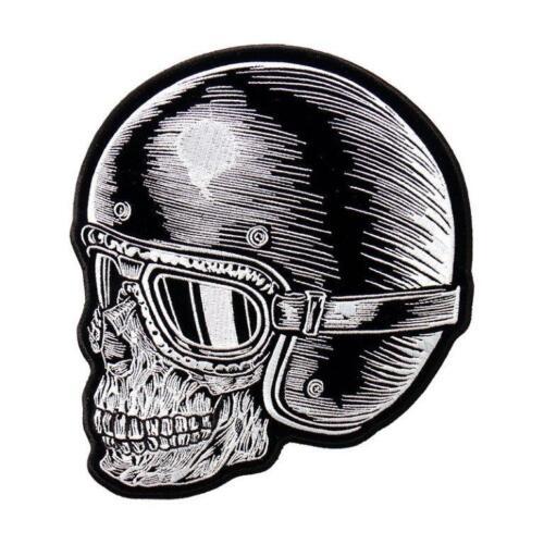 Skull Rider Z Rider EMBROIDERED IRON ON 4.0 inch MC BIKER PATCH