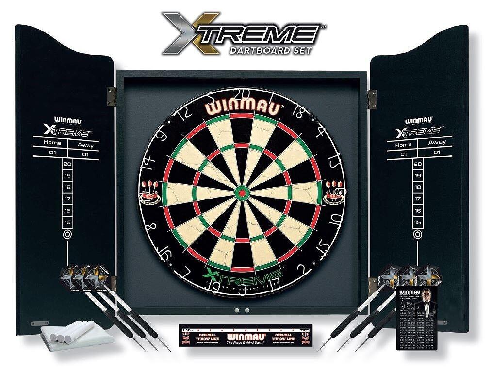 Winmau Dartboard Set XTREME inklusive Cabinet Artikel   815101