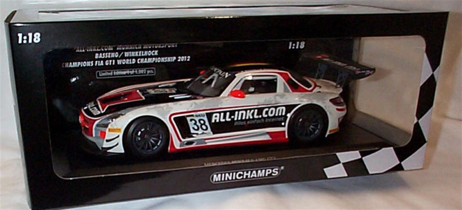 Mercedes Benz SLS AMG GT3 All-Inkl,com Champions Fia GT1 2012 1-18 New in Box
