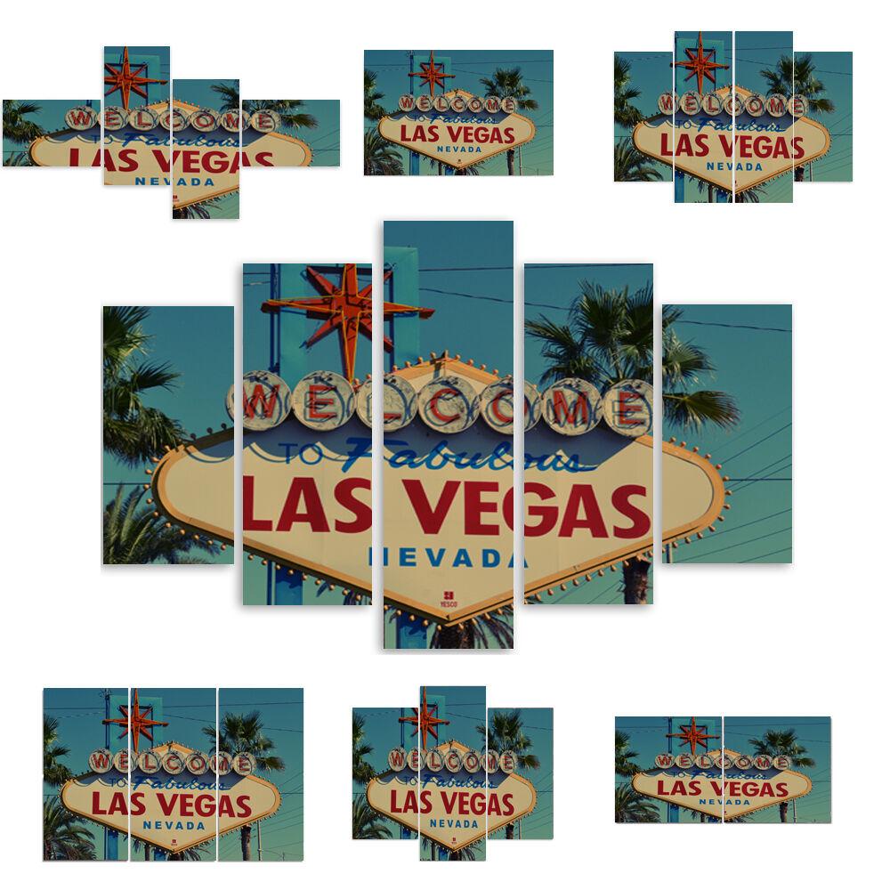 TOP LEINWAND BILD BILDER  (54 Muster) MODERN HD Kunst Las Vegas 1650