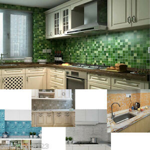 Mosaic-Wall-Anti-Oil-Paper-for-Kitchen-Aluminum-Foil-Self-adhensive-45x200cm-New