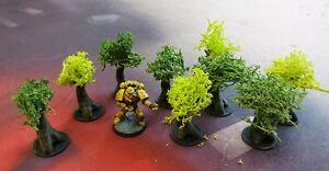 SCENERY-Nine-9-10mm-scale-trees-Dropzone-Commander