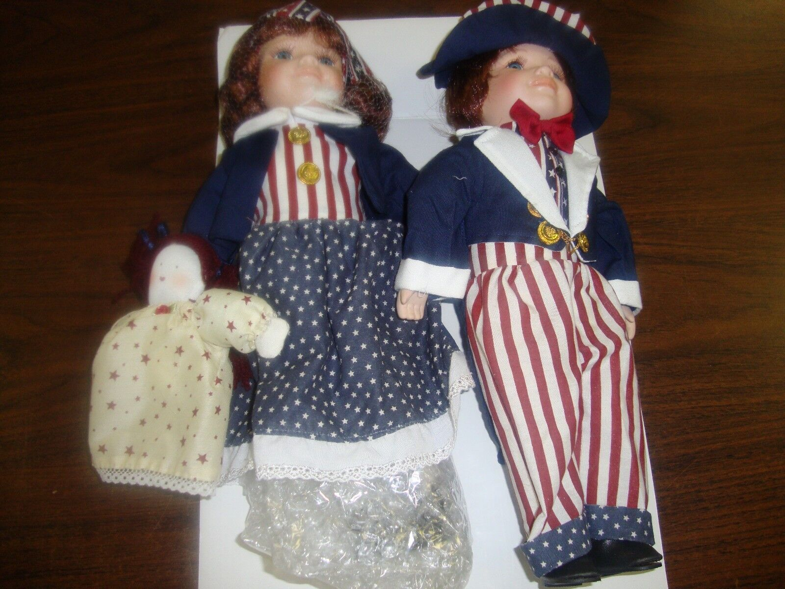 American Porcelain Doll Couple---14  Tall