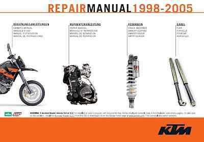 Inteligente Ktm Lc4 Manuale Officina In Italiano400-620-625-640-660 Motore E Ammortizzatori Morbido E Antislipore
