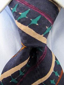 Men-039-s-Ungaro-Blue-Silk-Tie-Made-in-Italy-21526