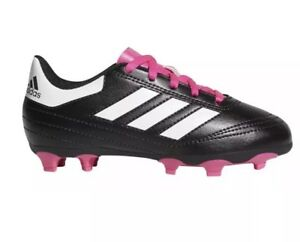 New Adidas Womens Bb0571 Black and pink soccer Cleats Size 6 ... 8ac189c5d