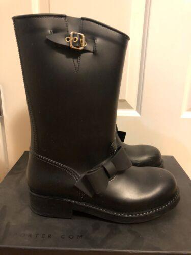 Valentino Moto Bow Rubber Rain Boots Size 40 Black