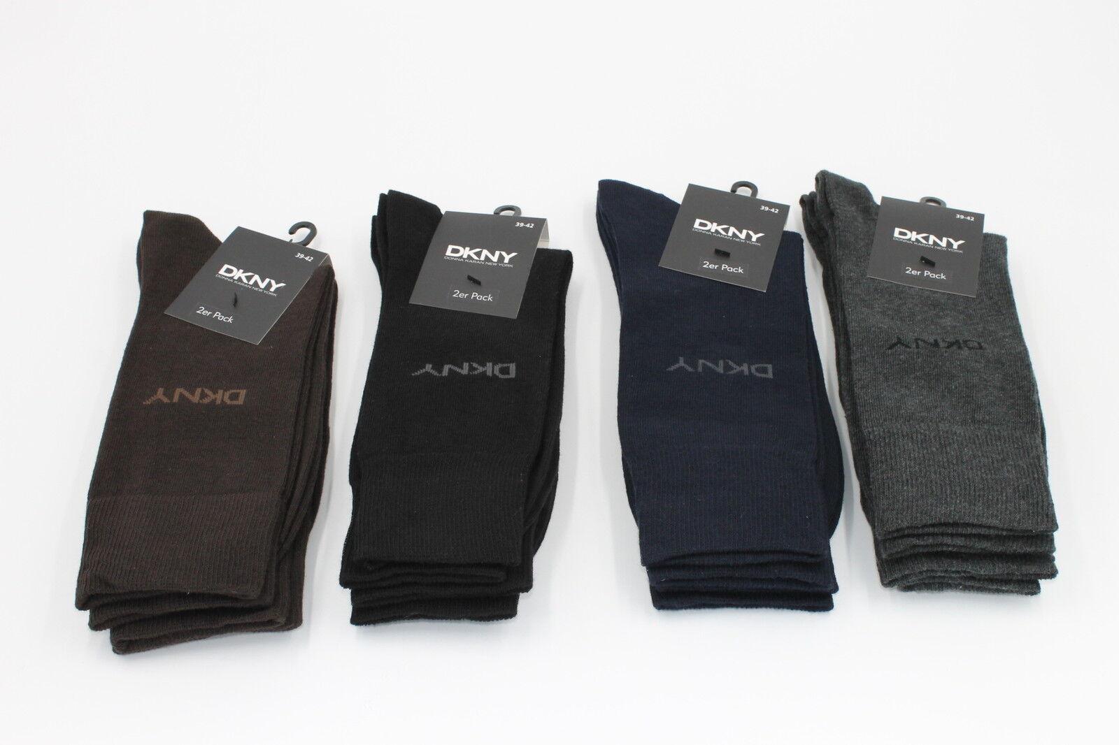 DKNY Herren Socken Strümpfe 39/42, 43/46 schwarz,blau,braun,anthrazit 4 x 2 Paar