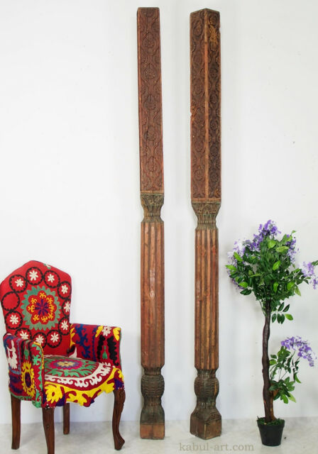 ein paar antik Massiv Holz Säule aus afghanistan Pakistan wooden Pillar column B