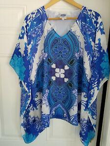 "Diane Gilman Women/'s Paisley Printed /""Tie Neck/"" Blouse Top Coral Medium Size HSN"