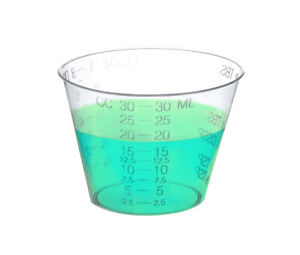 Disposable Graduated Plastic Medicine Cups - Sleeves of 100 - Measuring Cups