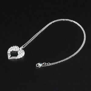 925-Women-Silver-Plated-Angel-Wing-LOVE-Heart-Silver-Pendant-Necklace-Gift