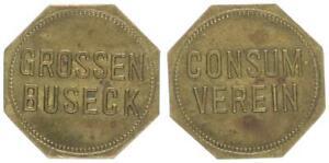 Grossen-Busseck , Marke: Consumverein vz, kleine Flecken 54487