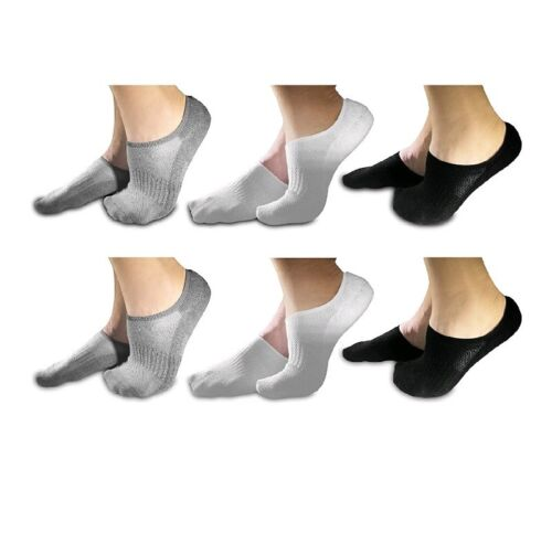 No Show Luxury Socks for Men and Women 6 Pairs Comfort Hidden Low Cut Ankle