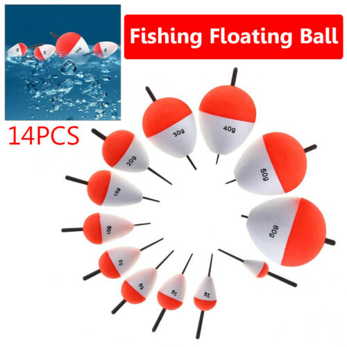 14Pcs Vertical Sea Fishing Floats Buoy Bobber Stick Fish Tackle Tool Accessory