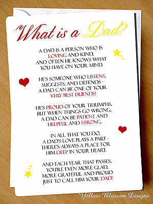 Greeting Card Dad Birthday Fathers Day Love Children Kids Printed Christmas  Cute | eBay