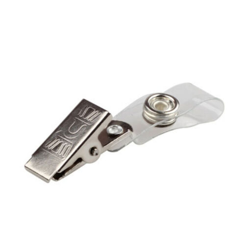 10pcs ID Badge Porte-clés Porte-cartes en Métal Badge Nom Tag Longe Clip