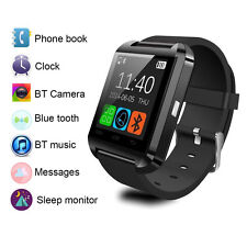 Black Bluetooth Wrist Smart Watch With Sleep Monitor For Sync Android Samsung LG