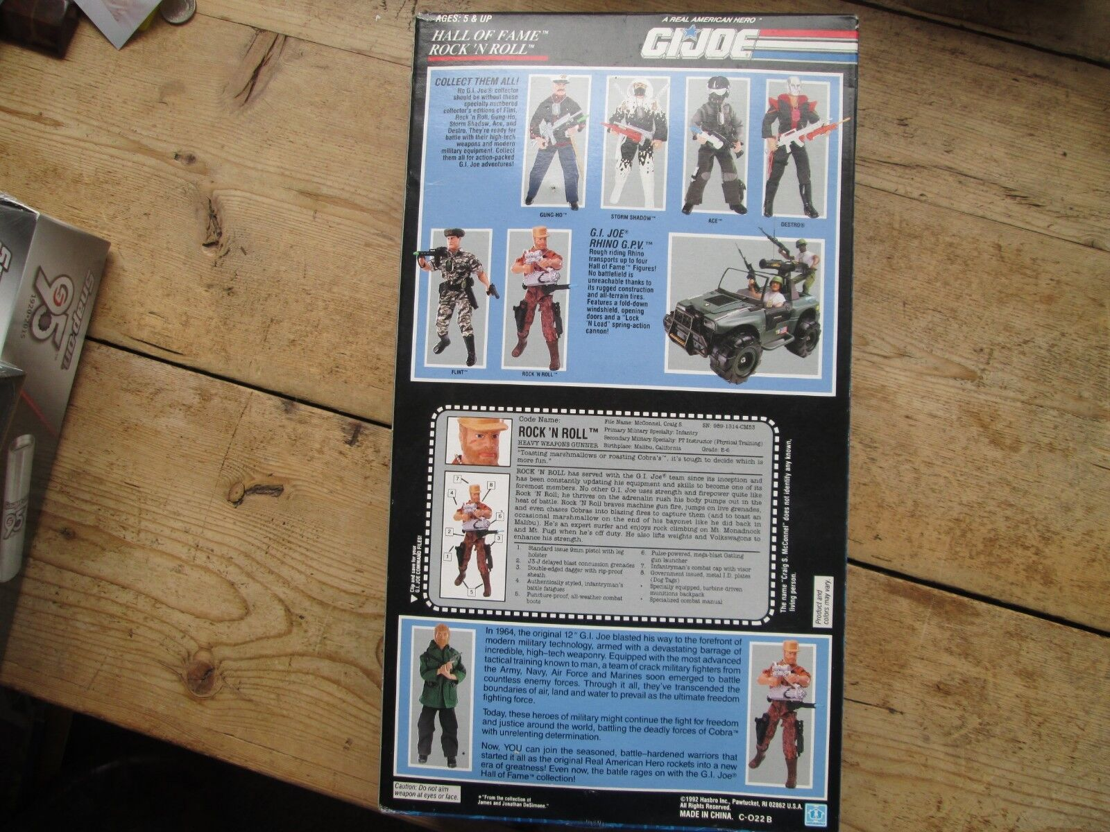 G I JOE DOLL AND ACCESSORIES HALL OF FAME - G I JOE BOXED AND UNOPENED