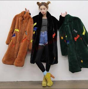 longue chaud lâche outwear manteau en femmes Nouvelles veste fit fourrure 18 coréen hiver fausse PwFxv