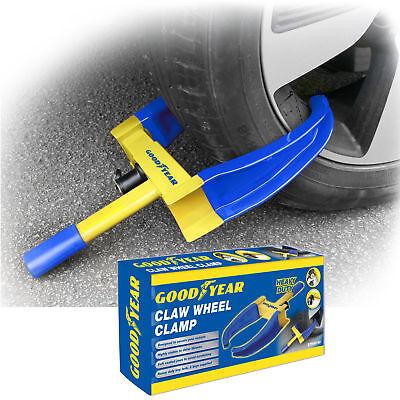 Goodyear Heavy Duty Car Wheel Clamp -Van/Caravan 2 Keys - Unbreakable Security