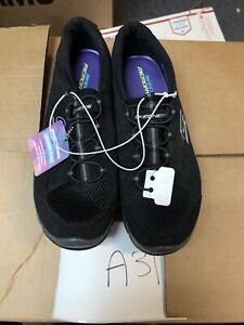 New-Women-039-s-Skechers-22603-Gratis-Going-Places-Slip-On-Sneakers-Black-C29-9-5